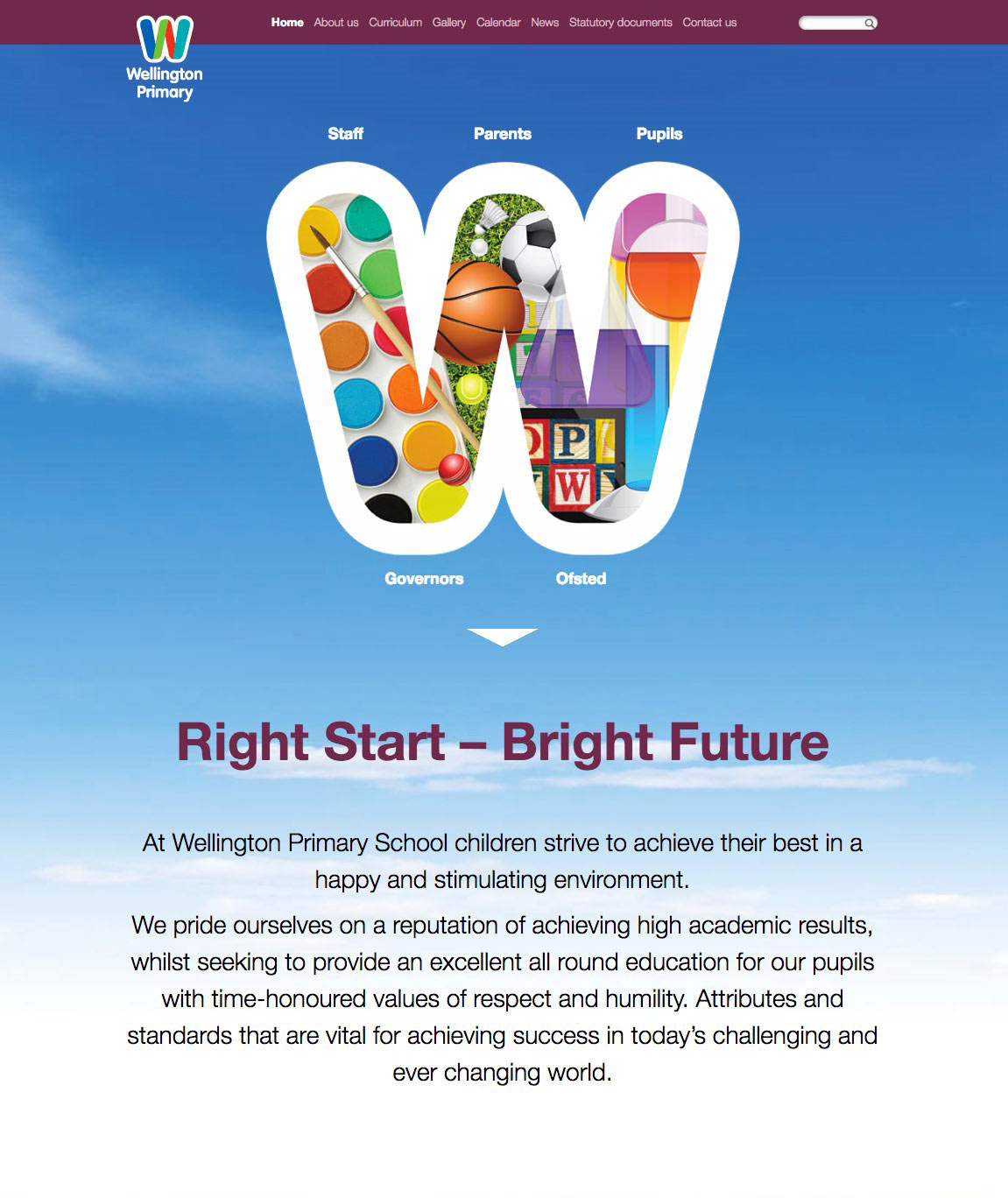 wellington primary school website design hounslow
